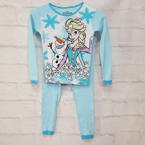 Disney Frozen Pajamas Size 10 Large Girls